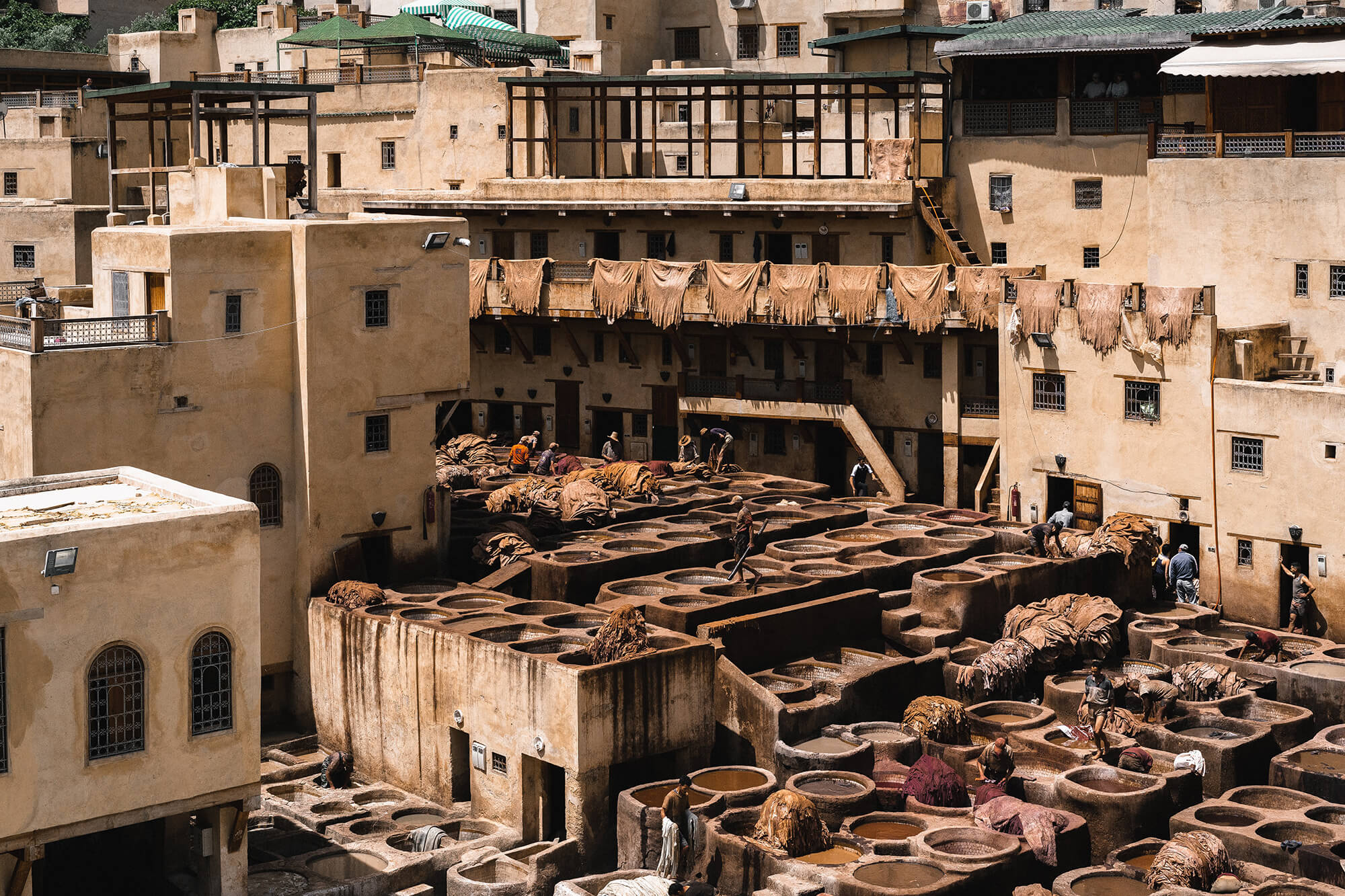 Sahara Desert Tour - Top Ten Things To Do in Morocco - Sensory experience at the Chouara Tannery Fez