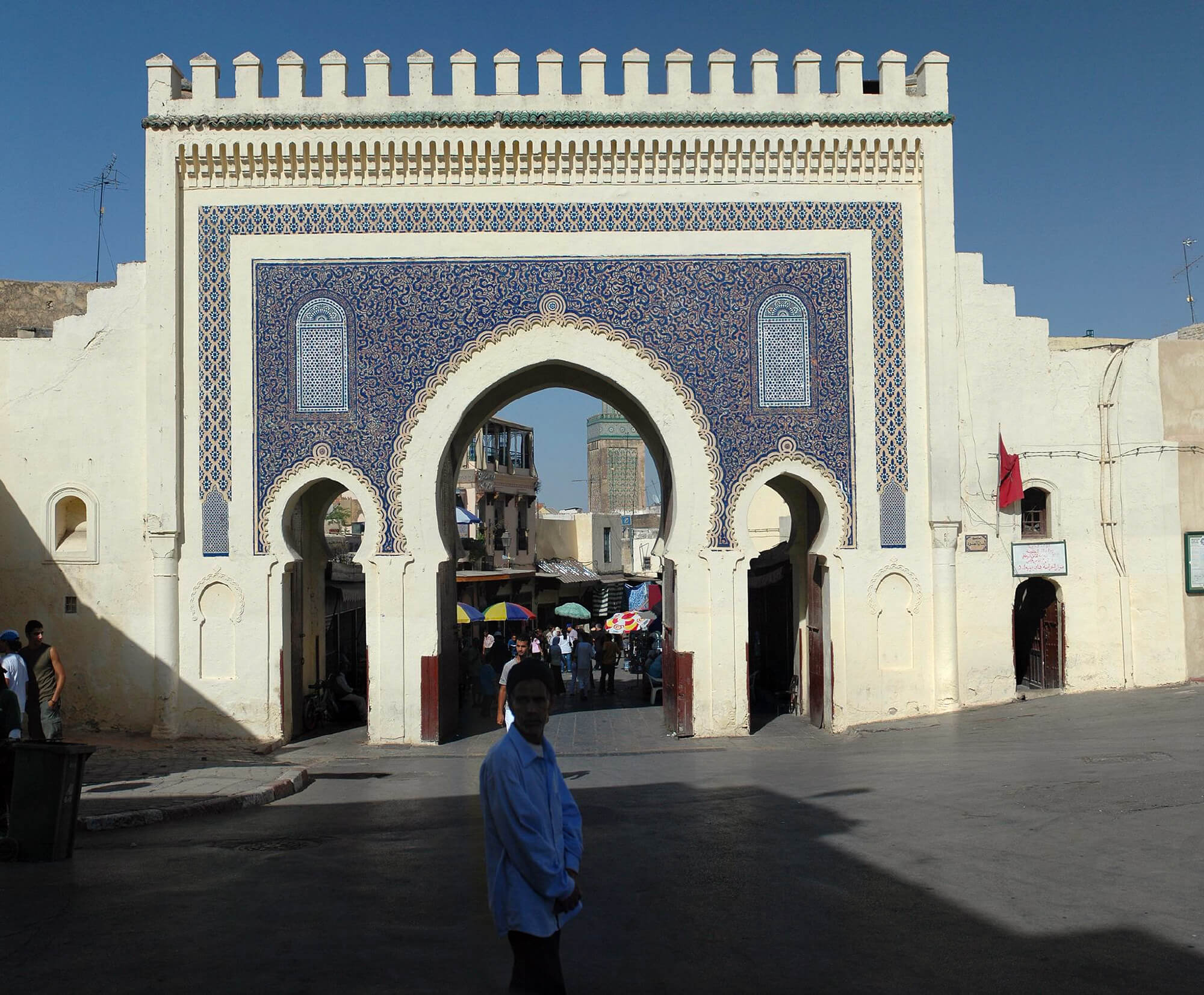 Sahara Desert Tour - What To Do and See in Fez - Bab Bou Jeloud Blue Gate